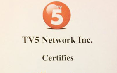 TV5 Network Inc. Certifies TVCXpress Manila
